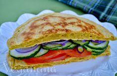 Veganana: Sanduiche de Frigideira sem Glúten~ Gluten-Free Skillet Flatbread