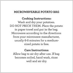 Diy Microwaveable Potato Bag By Marilyn Brewed Together My Favorite Pattern Far