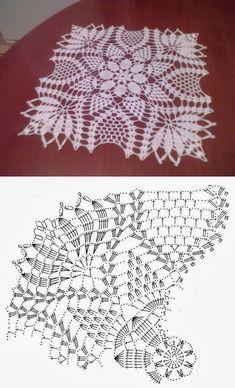 Square doily crochet... ♥ Deniz ♥
