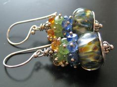 Artisan Glass and Semi Precious Gemstones from Bijou Babe over at Etsy.