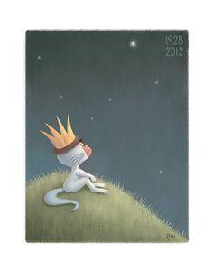 Maurice Sendak Where the Wild Things Are tribute print