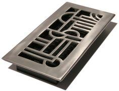 Art Deco floor or ceiling vent
