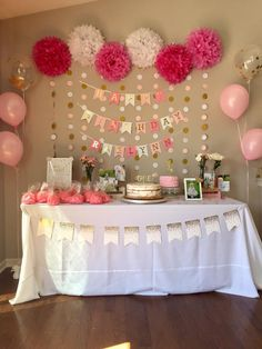 pink and gold theme birthday party