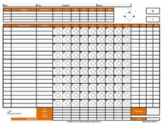 Printable Softball Scorecards  Softball Score Sheet  Softball