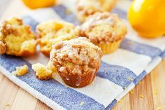 Meyer lemon mini muffins with streusel topping... want to attempt making these for lab meeting at some point!