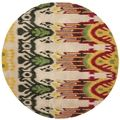 Safavieh Handmade Ikat Beige/ Yellow Wool Rug (6' Round) | Overstock.com Shopping - The Best Deals on Round/Oval/Square