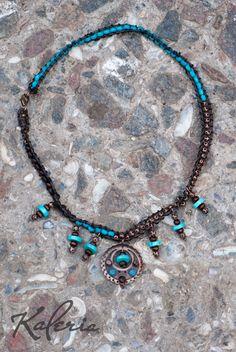 13$ Браслет-трансформер. Можно одеть как ожерелье под шею. Деревянные бусины, бирюза, латунь. Convert bracelet. May be worn as a short necklace. Turquoise, wooden beads, metal.