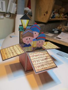 Calla Lily Studio Blog: Card in a Box Carolers!
