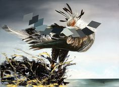 Indecisión 65 cm x 95 cm Oleo-Lienzo 2008 2800€ #arte #art #cuban #CesarIvan Fighter Jets, Canvases, Birds, Nature, Hunting