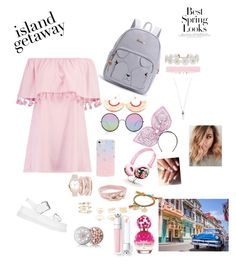 """""""ISLAND GETAWAY 💦🌸🌸"""" by ghinaboughanem49 ❤ liked on Polyvore featuring Boohoo, STELLA McCARTNEY, Sunday Somewhere, Sonix, Piers Atkinson, NAKAMOL, Salvatore Ferragamo, Venessa Arizaga, A.X.N.Y. and Humble Chic"""