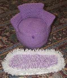 Ag Storage Barrel Chair And Oval Rug-free Crochet Pattern