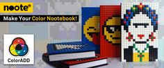 Another colorful partnership!!! Noote has just released its Nootebook collection that already includes ColorADD! Now everyone can have a personalized notebook! The Nootebook is a notebook with brick surface, through which you can demonstrate your state of mind and express yourself!!! You can create your own notebook or choose from a wide range of colors and design. Complete Collection: http://www.noote.com/pt/sobre-noote/ COLOR IS FOR ALL!!! #ColorADD #Noote #Nootebook #Colors #design #book