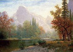 Half Dome: Yosemite by Albert Bierstadt from Private Collection