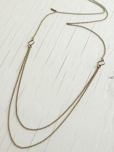 Multi-Chain Layered Necklace in Steel | A Common Thread