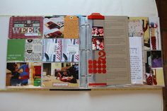 Love the layers, the kraft cardstock, and how she incorporated traditional layouts into her project life album!