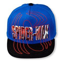 NEW! Boys Spider-Man Spider Hat Adjustable Snap Back Black Blue Cap L 70bfe7827ce