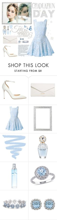 """""""Graduation Day Outfit"""" by whims-and-craze ❤ liked on Polyvore featuring Jimmy Choo, Vera Bradley, Alex Perry, Olivia Riegel, Marc Jacobs, Thierry Mugler, Modern Bride, Asprey, Graduation and blueandwhite"""