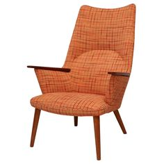 Hans Wegner AP-27 Armchair | See more antique and modern Lounge Chairs at https://www.1stdibs.com/furniture/seating/lounge-chairs