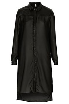 **Leather and Chiffon Shirtdress- Downtown Los Angeles