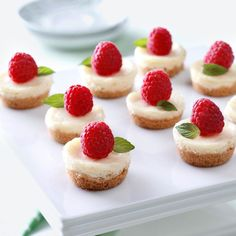 Berry Mini Cheesecakes Recipe -There's always room for dessert when it's just a bite! —Taste of Home Test Kitchen Berry Mini Cheesecakes Recipe -There's always room for dessert when it's just a bite! —Taste of Home Test Kitchen Mini Desserts, Mini Cheesecake Recipes, Just Desserts, Dessert Recipes, Cheesecake Bites, Raspberry Cheesecake, Raspberry Ganache, Wedding Cheesecake, Mini Cheesecakes