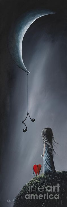 They Feel Your Love Song - Surreal Art By Shawna Erback - Gray