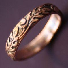 oak leaf rings from old coins | Copper Old Oak Ring by sudlow on Etsy