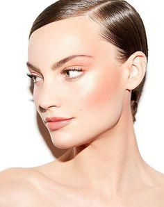 Highlighter and blush combined to make the ultimate glow-y beauty look