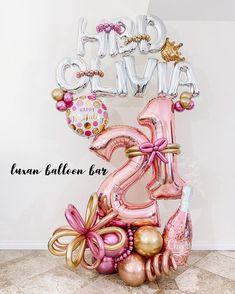 Diy Diwali Decorations, Birthday Balloon Decorations, Birthday Balloons, 21 Balloons, Letter Balloons, Balloon Display, Balloon Garland, Themed Gift Baskets, Raffle Baskets