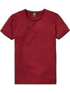 Melange Crew Neck T-Shirt (Red Rock Melange) at Scotch & Soda