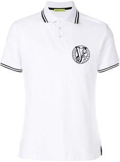 4dc37d7b Versace embroidered logo polo shirt Versace Jeans, Polo Shirts, Polo Ralph  Lauren, Polo