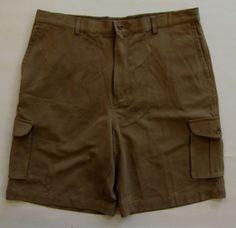 """Tommy Bahama Relax Silk Flat Front Cargo Shorts 38 NEW Rodeo Dark Pebble 10"""" #TommyBahama #Cargo"""