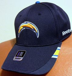 SAN DIEGO CHARGERS REEBOK SIDELINE FLEX FIT EMBROIDERED HAT CAP FREE SHIPPING #Reebok #SanDiegoChargers