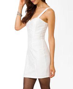 Lace Paneled Knit Dress   FOREVER21 - 2021839469