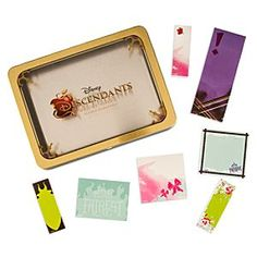 Disney Descendants Sticky Notes Set   Disney StoreDescendants Sticky Notes Set - They won't have to go long spells trying to remember things when they have this Descendants Sticky Notes Set. All their villainous favorites from the Disney Channel movie are represented and contained in the golden metal tin.