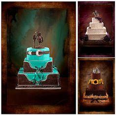 Love the teal cake!