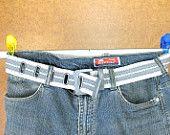 Ribbon Belt Vintage Preppy Stripe belt Prep School Fabric Belt Belt Medium back to school 90's Nautical Stripe Belt