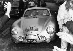 Porsche 356 - Polensky-Linge. Liége-Rome-Liége 1954