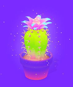 New trendy GIF/ Giphy. animation cute 3d cgi plant cactus glittery cacti michael shillingburg. Let like/ repin/ follow @cutephonecases