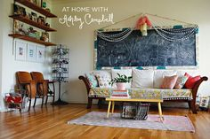 At Home With Ashley Campbell Cute idea for a chalk board