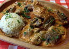 Bakonyi szelet   Horváth Ferenc receptje - Cookpad receptek Pork, Food And Drink, Chicken, Kale Stir Fry, Pork Chops, Cubs