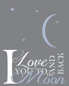Wall Art- I love you too the moon and back