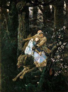 Виктор Васнецов «Иван-царевич на сером волке» (1889) Холст, масло.