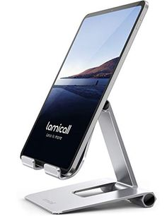 """Lamicall Supporto Tablet, Supporto Regolabile - Pieghevole Stand Dock per 4.7~13"""" Tablet Come iPad PRO 9.7, 10.5, 12.... Ipad Pro, Samsung Tabs, Ipad Mini 2, Docking Station, Laptop, Iphone, Laptops"""