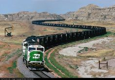 BN 9259 Burlington Northern Railroad EMD SD60M at Sully Springs, North Dakota by Mike Danneman