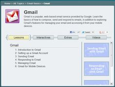 Get Gmail help and learn how to set up and manage a Gmail account in this free tutorial. New Technology, Libraries, Exploring, Popular, Learning, Games, Google, Plays, Bookcases