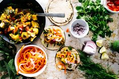 Vietnamese fish tacos: cod tossed with fish sauce, turmeric, dill, & mint, wrapped in a tortilla and topped with quick pickled daikons and carrots New Cooking, Cooking Recipes, Healthy Recipes, Cooking Blogs, Food Blogs, Quesadillas, Tamales, Burritos, Empanadas