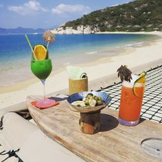 #HOTELS #SWD#GREEN2STAY Six Senses Ninh Van Bay - Vietnam   Cool off this summer with a cocktail by the beach. If you try one, make sure to let us know how you like it! #instagood #instamood #chillout