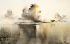 акварель пейзажи Илья Ибряев - 05