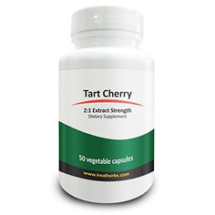 Real Herbs Tart Cherry Extract 2:1 700mg - Reduce Muscle Recovery Time, Boost…