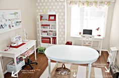 may rethink where my current craft room/office is...do the kids really need a playroom? Psh